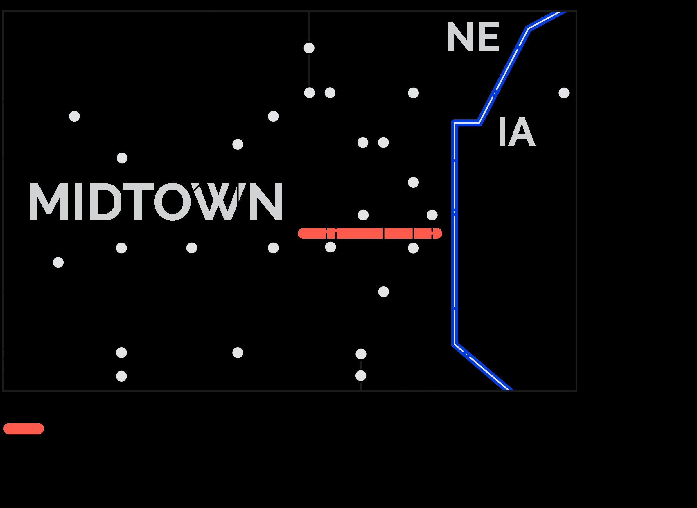 Market to Midtown Bikeway Map